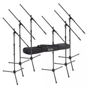 On-Stage MSP7706 6 Euroboom Mic Stands w/Bag
