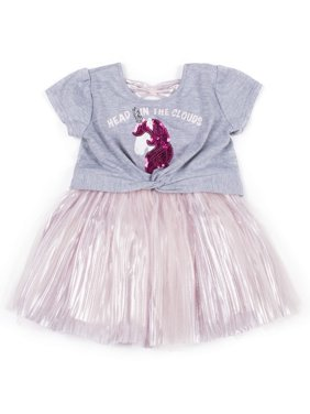 Short Sleeve Tulle Skirt Dress (Baby Girls & Toddler Girls)