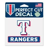 "Texas Rangers WinCraft 4"" x 5"" Perfect Cut Logo Slogan Decal"