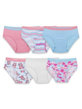 Fruit of the Loom Assorted Hipster Underwear, 6 Pack (Toddler Girls)