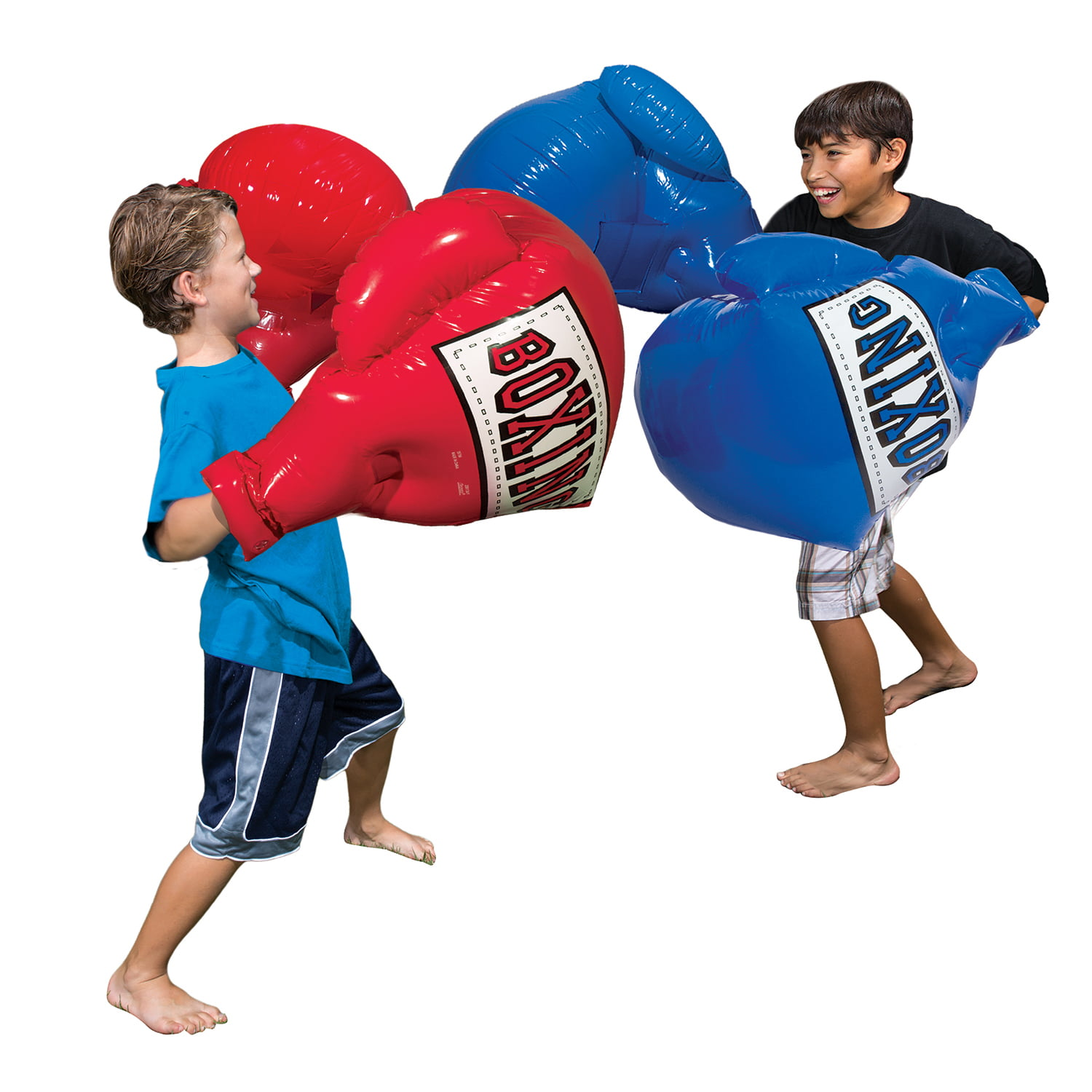BANZAI MEGA BOXING GLOVES KIDS OUTDOOR INDOOR TOYS PAIR SET INFLATABLE BUMPER