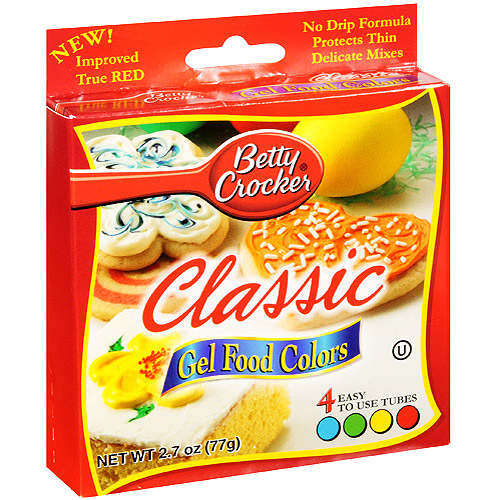 Betty Crocker Gel Food Colors, 4 ct/2.72 oz