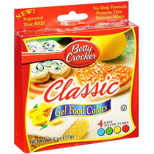 Betty Crocker Gel Food Colors, 4 ct/2.72 oz