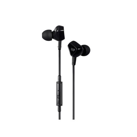 Monoprice Triple Driver Earbuds Headphones With In-line Microphone And 1-Button Control, 2 Balanced - Balanced Armature