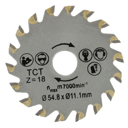 TCT Saw Blade 18 Teeth 54.8x11.1mm Circular Saw Blade For Carpentry Wood Cutting - image 7 of 7
