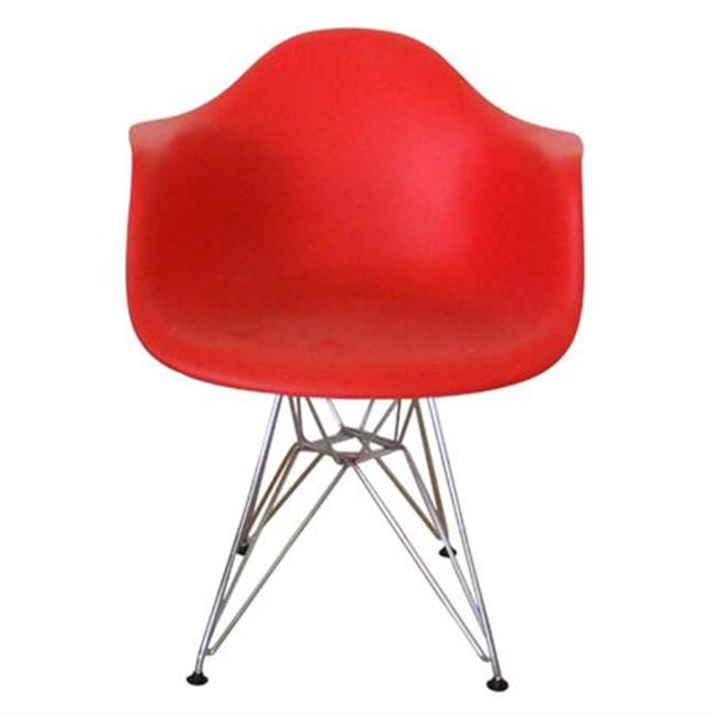 Kirch DC311GRED Mid-Century Eiffel Dining Armchair Red by Kirch