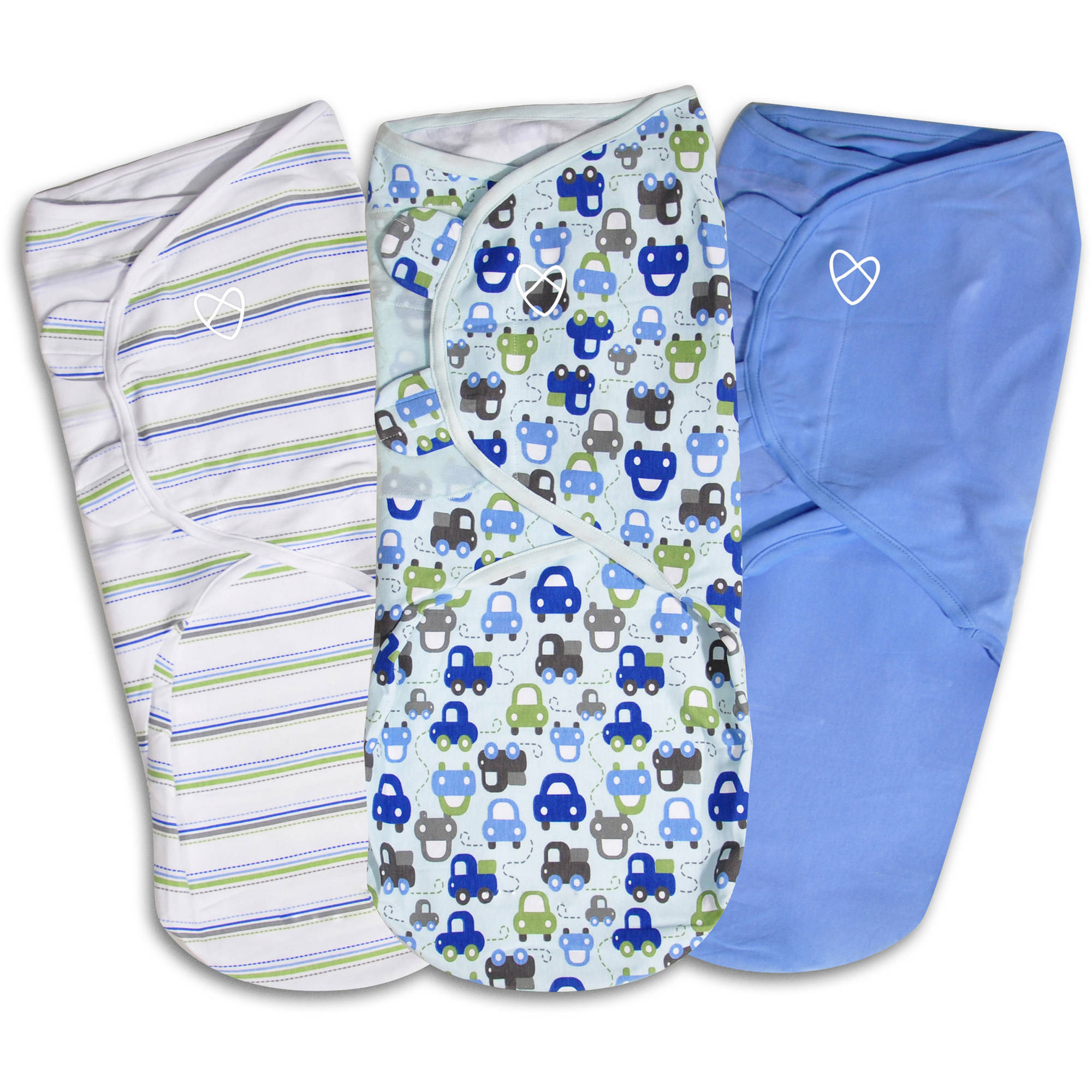 SwaddleMe Original Swaddle, 3-Pack, Graphic Car, Large
