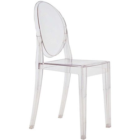 Fine Mod Imports Clear Side Chair in Clear