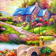 Clearance Sale Handmade Scenery Pattern Art Painting Full Diamond Painting Cross Stitch Classic Wall Decoration Multicolor