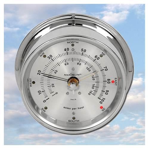 Maestro Wind Monitor w Chrome Case & Silver Dial