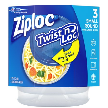 Ziploc Twist N Loc, Small, 3 count ()