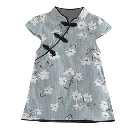 Toddler Kids 2019 FASHION CUTE Baby Girl Floral Midi Dress Casual Princess Party Dress