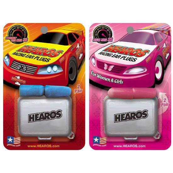 Hearos Blue and Pink Racing Ear Plugs with Free Case