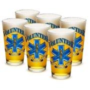 EMT 16 oz. Pint Glass Volunteer EMS (Set of 6) by Erazorbits