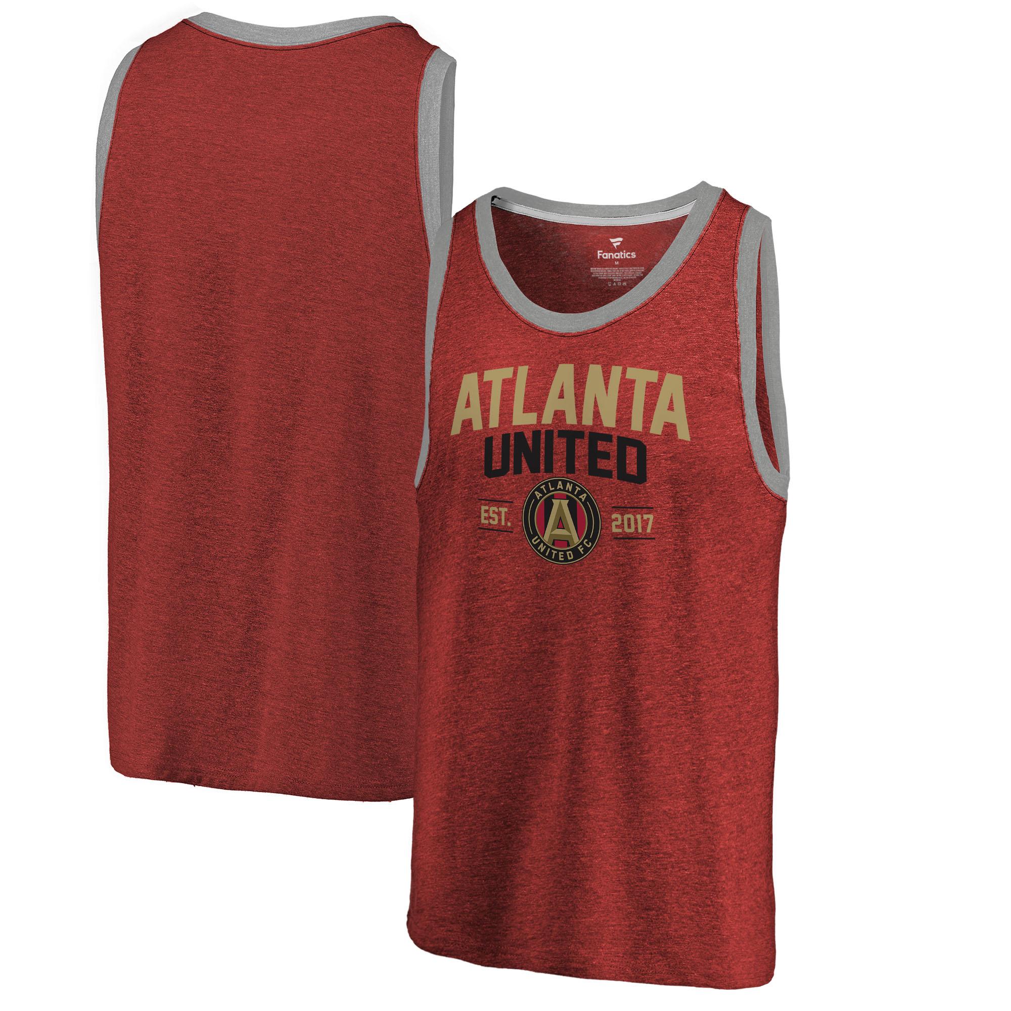 Atlanta United FC Fanatics Branded Tri-Blend Tank Top - Red