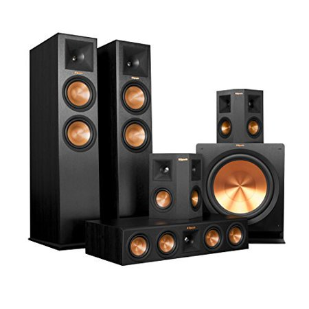 Klipsch RP-280FA Home Theater System Bundle (Black) with Denon AVR-X7200WA