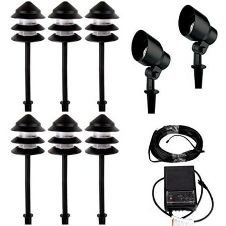 Malibu Starlight 8 Pack Light Kit Low Voltage Landscape Lighting Outdoor Spotlight Pathway Lights Waterproof For