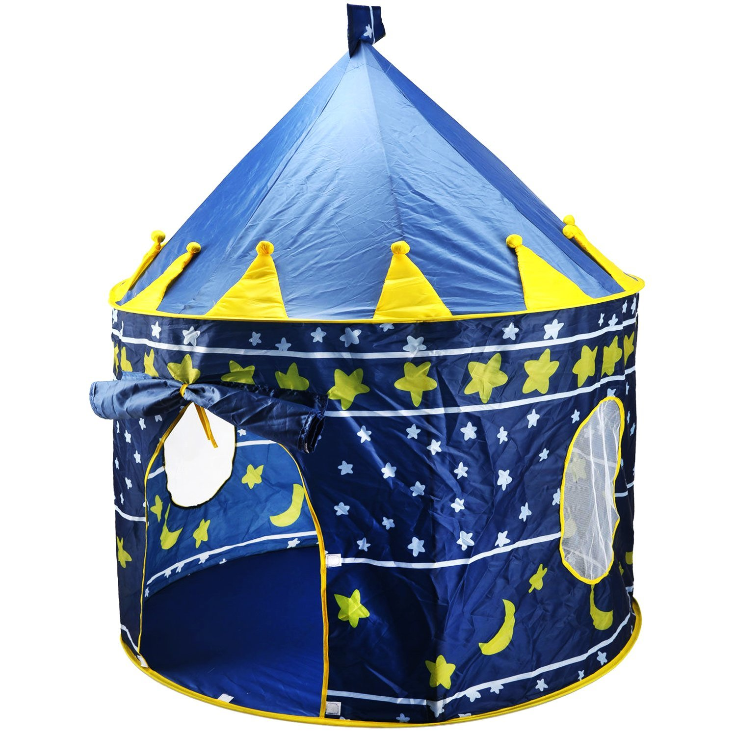 Children Play Tent Boys Girls Prince House Indoor Outdoor Blue Foldable Tent with Case by Creatov