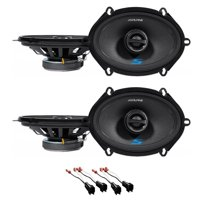 """Alpine S 5x7"""" Front+Rear Speaker Replacement Kit For 2004-2006 Ford F-150"""
