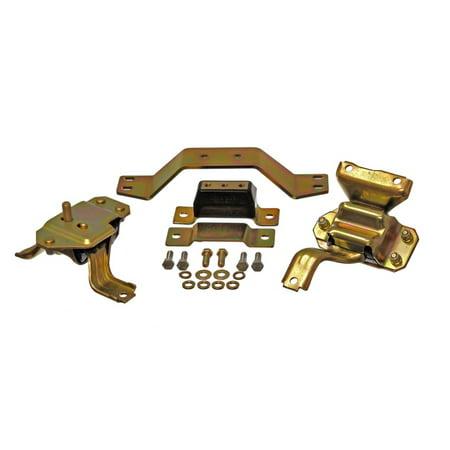 (Energy Suspension 99-04 Ford Mustang 4.6L V8 Black Motor & Transmission Mount Set)