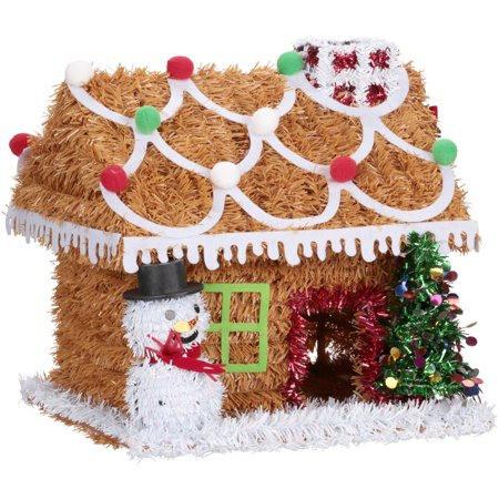holiday time tabletop gingerbread house decoration