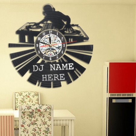 DJ Creative Record Wall Clock 12'' Disco Home Retro Party Decoration Art Clock - Record Decorations