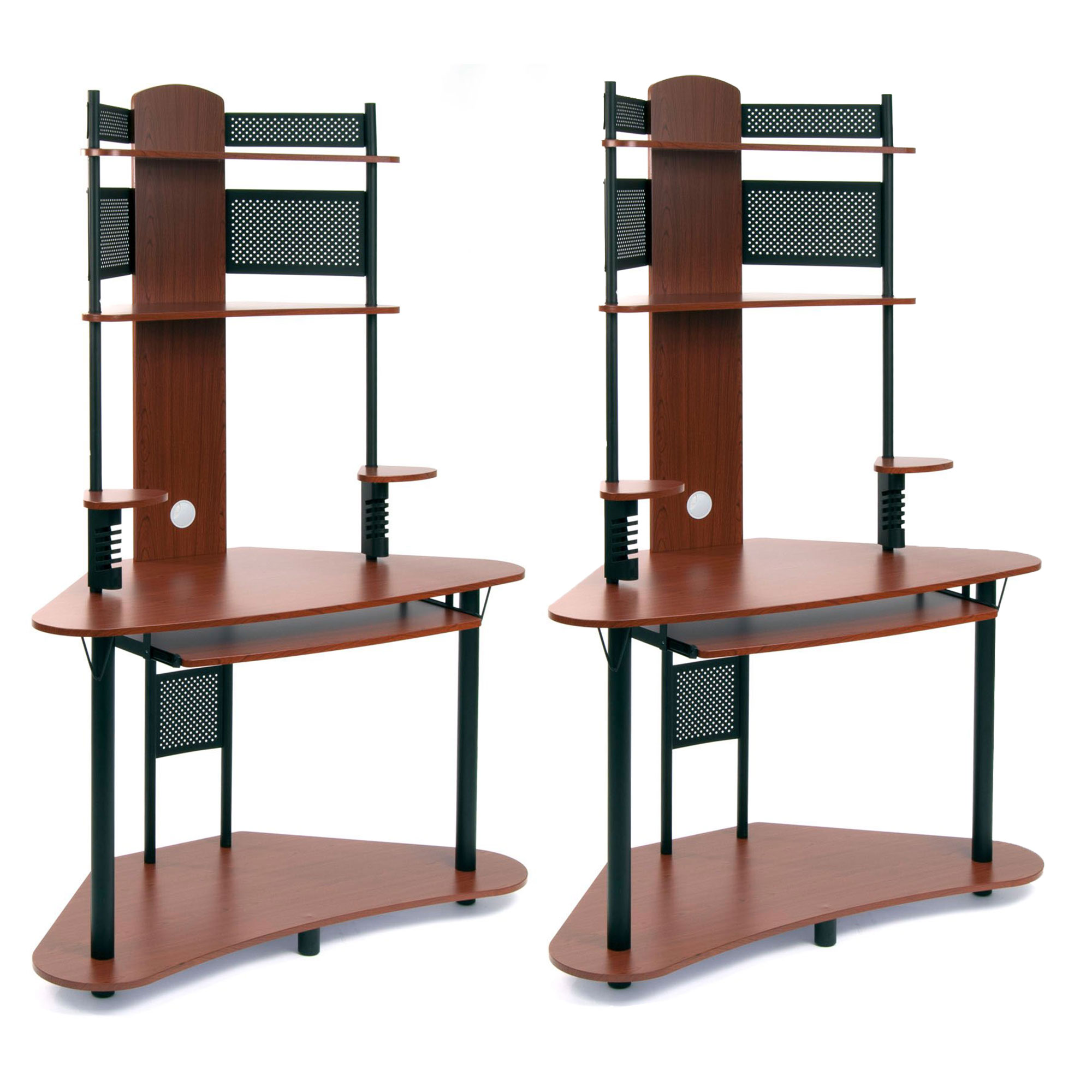 Home office furniture cherry Traditional Studio Designs Home Office Furniture Arch Tower Computer Desk Cherry 2 Pack Walmartcom Studio Designs Home Office Furniture Arch Tower Computer Desk