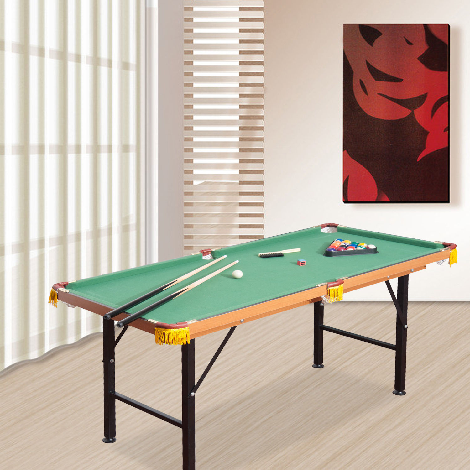 Mini Foldable Pool Table Portable Billiard Table With Cue Ball Sport Game Toy