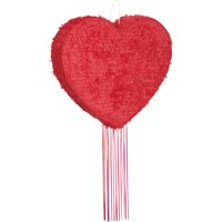 Red Heart Pinata, Pull String, 18in