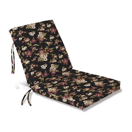 Weather-Resistant Outdoor Club Chair Cushion w/ Ties 44