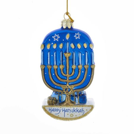 Hannukah Ornament (Kurt Adler Noble Gems™ Glass Hanukkah Menorah Ornament)