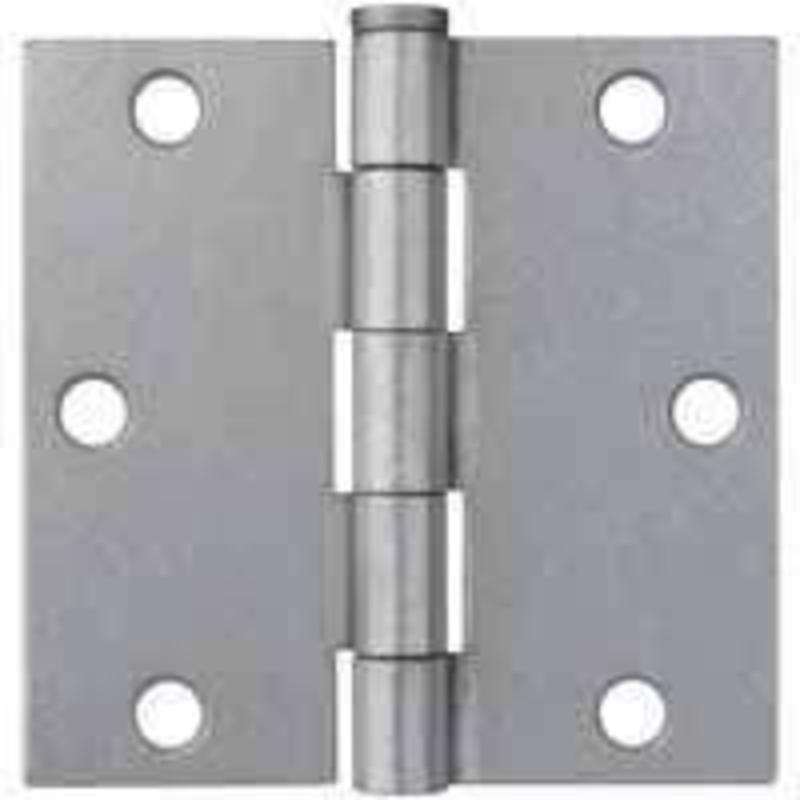 "3-1/2"" Sq Broad Galvanized Door Hinge  Brainerd 31625 022788316258"
