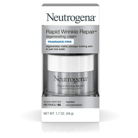 Neutrogena Rapid Wrinkle Repair Hyaluronic Acid & Retinol Face Cream, 1.7