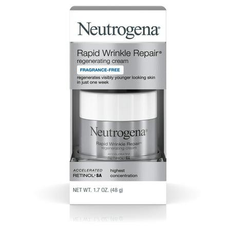 Neutrogena Rapid Wrinkle Repair Hyaluronic Acid & Retinol Face Cream, 1.7