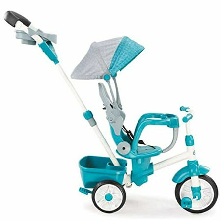 Little Tikes Perfect Fit 4-in-1 Trike, Teal (Teal Perfect Fit 4 In 1 Trike)