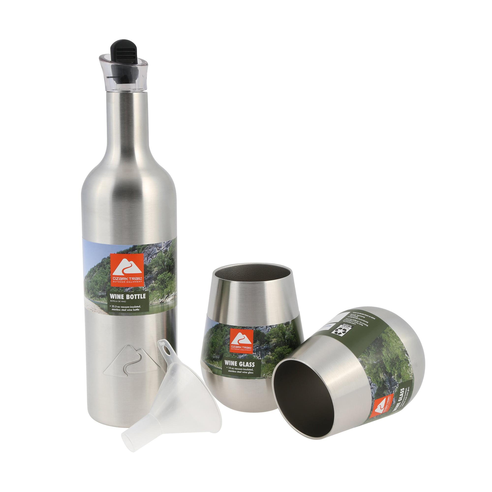 Ozark Trail Wine Bottle and Glass Set, 3 Pieces - Walmart.com