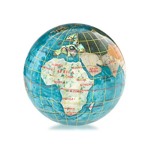 "3"" Gemstone Globe Paperweight"