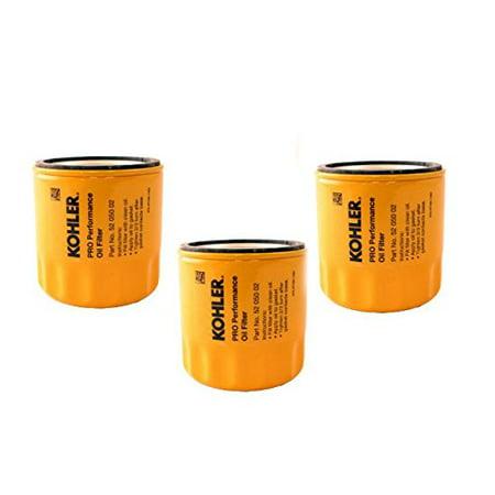 KOHLER 52 050 02-S Engine Oil Filter Extra Capacity For CH11 - CH15, CV11 - CV22, M18 - M20, MV16 - MV20 And K582 (Pack of