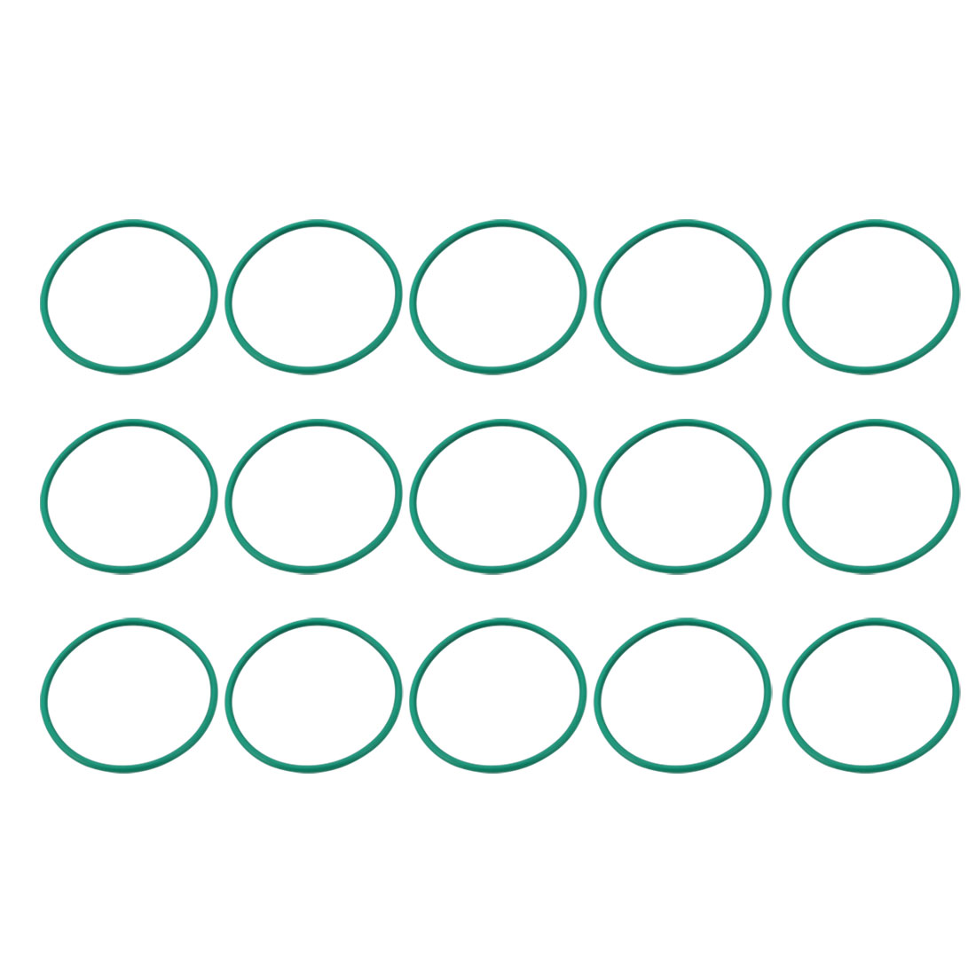 15 Pcs Green 35mm Outer Dia 1.5mm Thickness Sealing Ring O-shape Rubber Grommet - image 2 of 2
