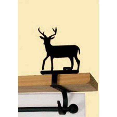 Village Wrought Iron CUR-SB-3 Deer - Curtain Shelf Brackets ()