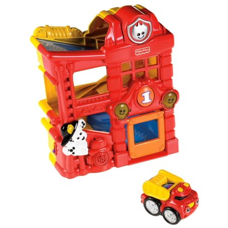 Fisher-Price Lil' Zoomers Racin' Ramps Firehouse, Full of action and fun, the Racin Ramps Firehouse gets Fire trucks out to the rescue in no time By