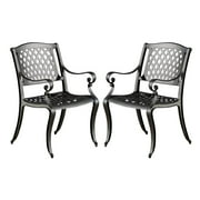 Outdoor Dining Chair in Black Sand - Set of 2