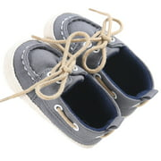 One opening Baby Shoes Boy Girl Canvas Crib Soft Sole Shoe 0-18M