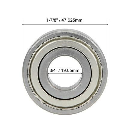 "RLS6ZZ Deep Groove Ball Bearing 3//4/""x1-7//8/""x9//16/"" Shielded Z2 Lever Bearings"