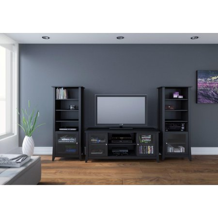 Tuxedo 58-inch TV Stand with Two Curio Cabinets
