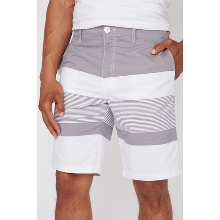 Urban Planet Men's Striped Colour Block Street Short - image 1 de 3