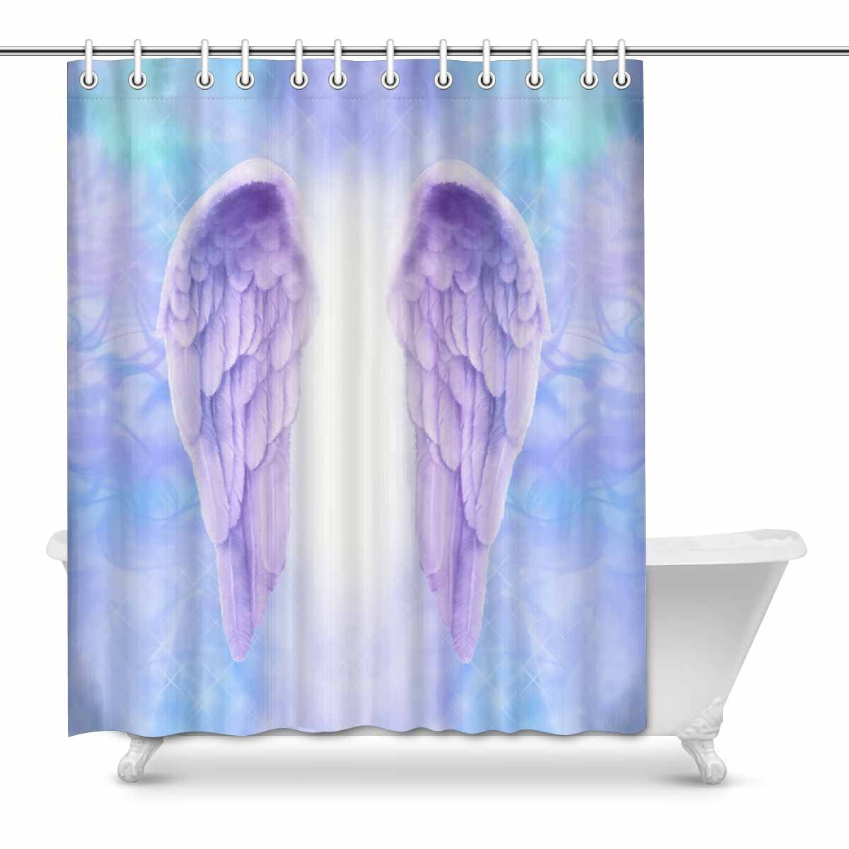 Home Decorations Contemporary X-Ray Flowers Shower Curtain Lavender,Small Stall Size 36 x 72 Inch Floral