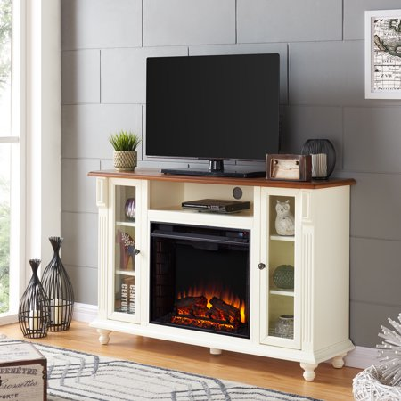 Crylo Tv Stand With Electric Fireplace For Tvs Up To 50 Antique
