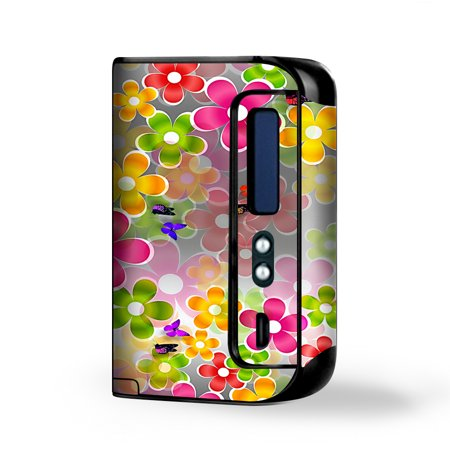 Skin Decal Vinyl Wrap for Smok Osub King 220W Vape Kit skins stickers cover / Butterflies and Daisies (Butterfly Flower Cover)