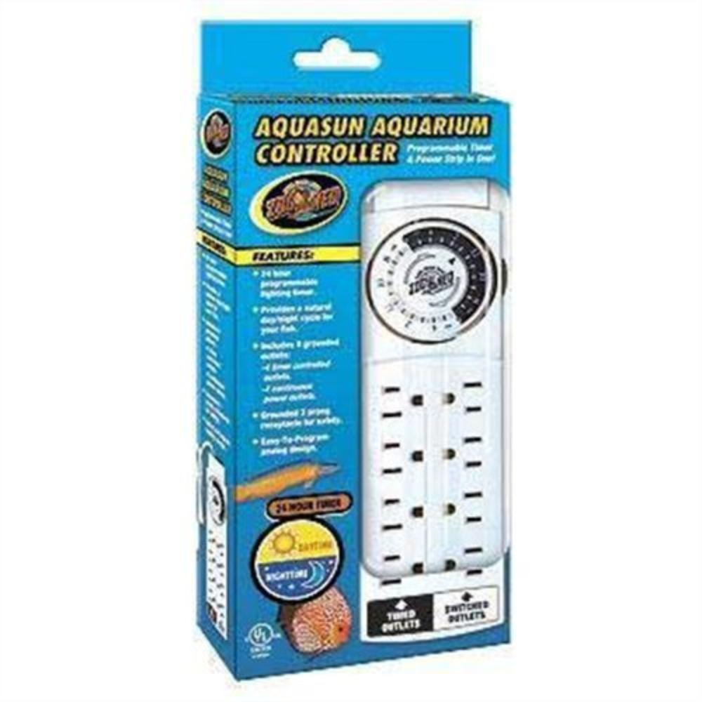 AquaSun Aquarium Controller Timer & Power Strip, Programmable timer and power strip in one By Zoo Med by